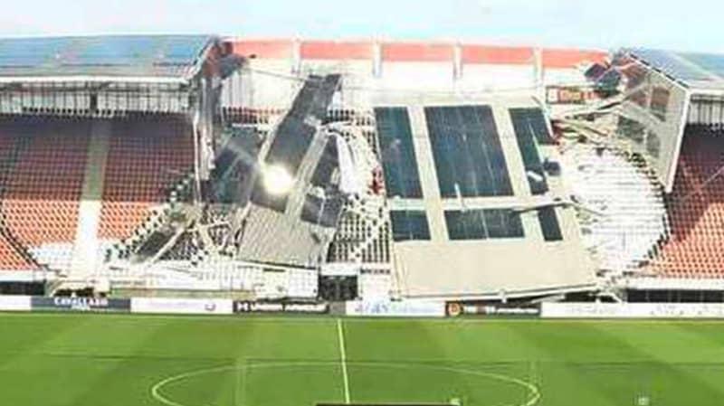 AZ Alkmaar's Stadium Roof Collapses After High Winds