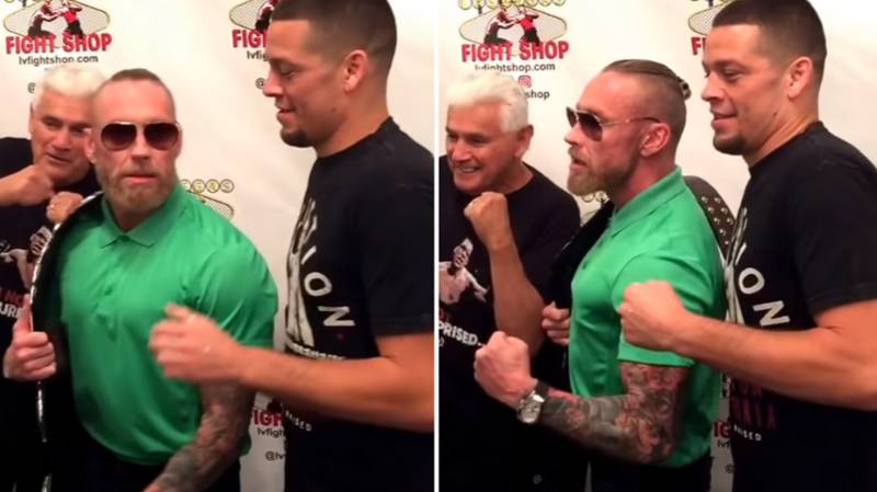 When Nate Diaz Met A Conor McGregor Impersonator