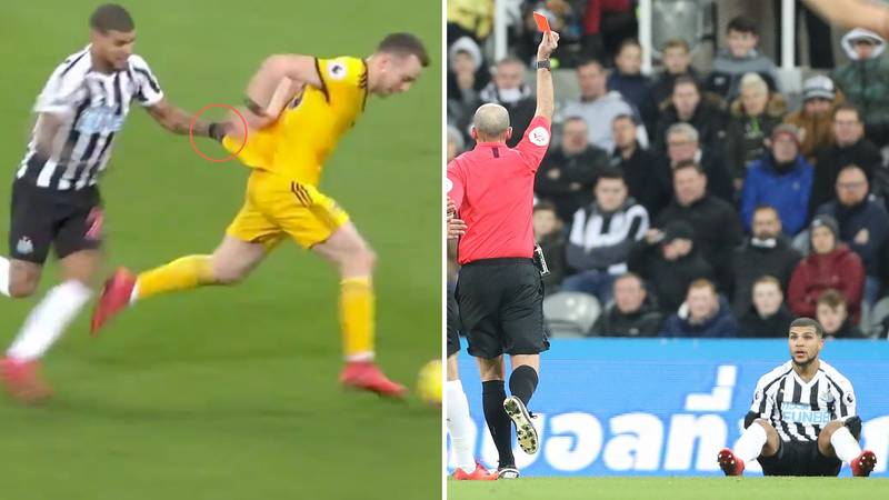 Mike Dean Once Again Steals The Show During Newcastle United Against Wolves