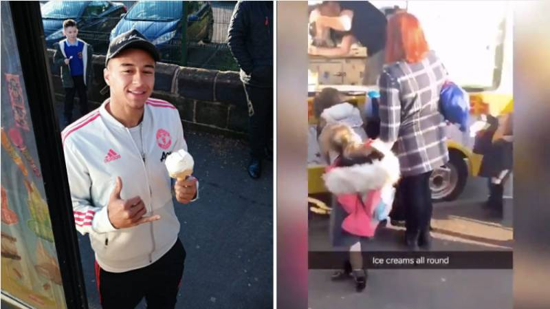 Jesse Lingard Treats Kids To Free Ice Cream After Visiting Local School