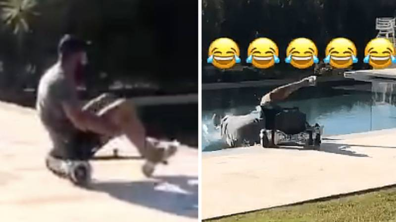 Diego Costa Shows His Craziness Yet Again By Crashing Go-Kart Into Pool