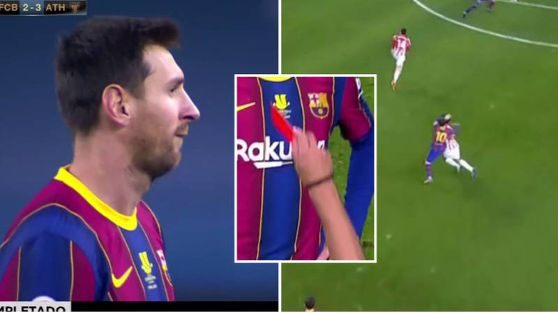 Lionel Messi Sent Off The For The First Time In His Barcelona Career As They Lose Spanish Super Cup Final