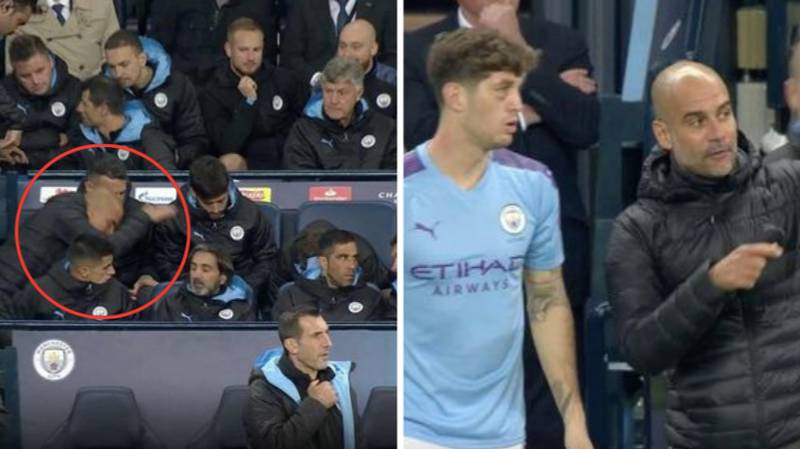 Pep Guardiola Loses His Temper With John Stones And Slams Seat In Fit Of Rage