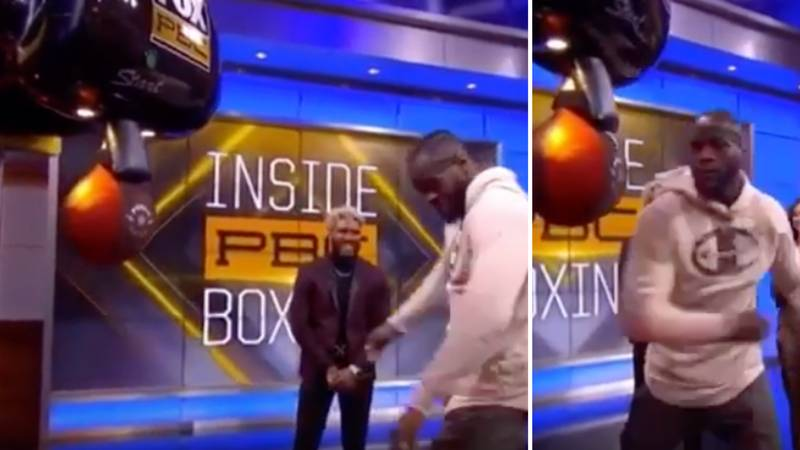 Deontay Wilder Scored A Freakish Number Using His 'Weak' Left Hook On A Punching Machine