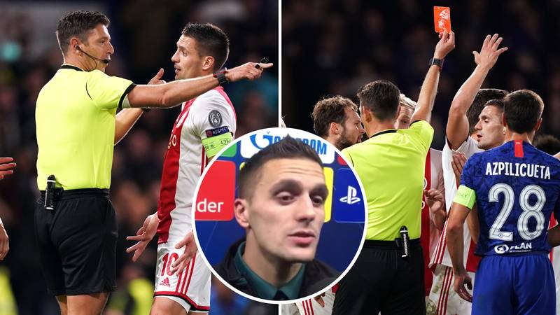 Dusan Tadic Launches Scathing Attack On Referee After 'Stealing' Ajax's Victory Over Chelsea