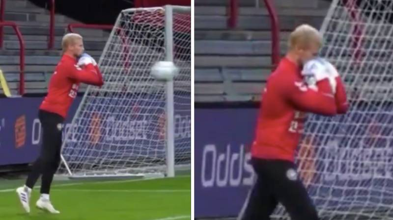 'The Danish Catch' Goalkeeping Technique Is Mindblowing