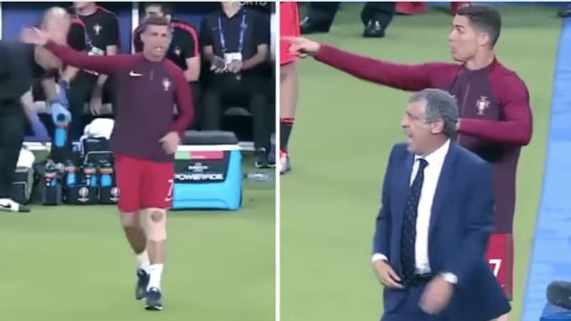 When Cristiano Ronaldo Became Portugal Coach In Euro 2016 Final