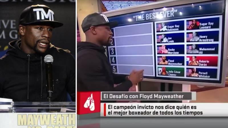 Floyd Mayweather Ranked His Picks For Boxing's Five Greatest Fighters Of All Time