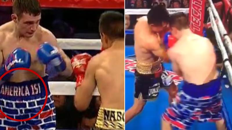 American Boxer Wearing 'Trump Border Shorts' Gets Brutally KO'd By Mexican Opponent