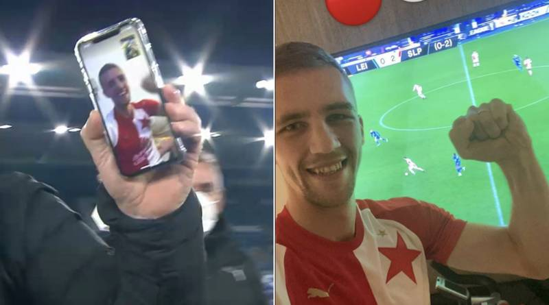 West Ham's Tomas Soucek Joins In Slavia Prague Celebrations By FaceTime