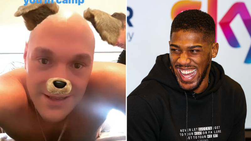 Tyson Fury Quickly Responds To Anthony Joshua's Sparring Offer Ahead Of Deontay Wilder Rematch