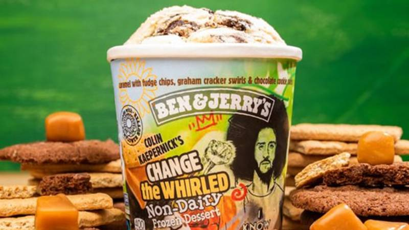 Colin Kaepernick Honoured With New Ben & Jerry's Ice Cream Flavour