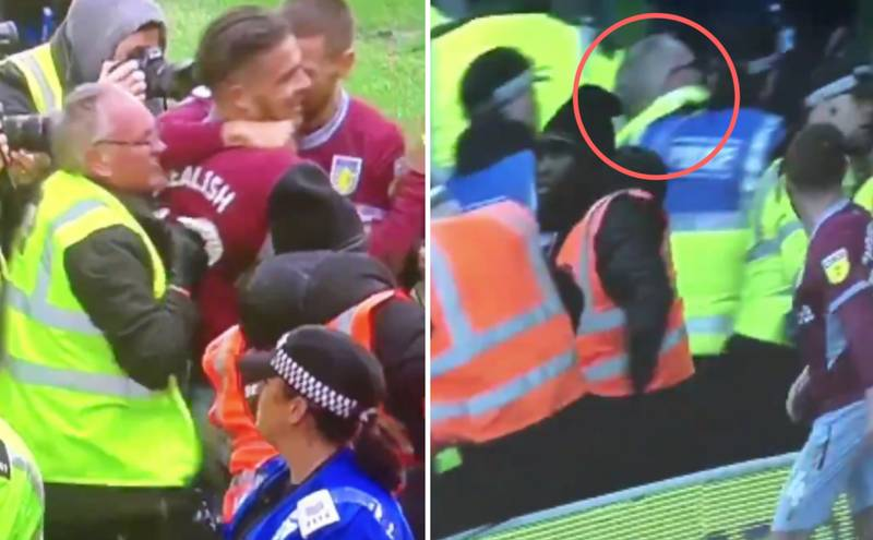 Steward Appears To Be 'Arrested' After Pushing And Kneeing Jack Grealish