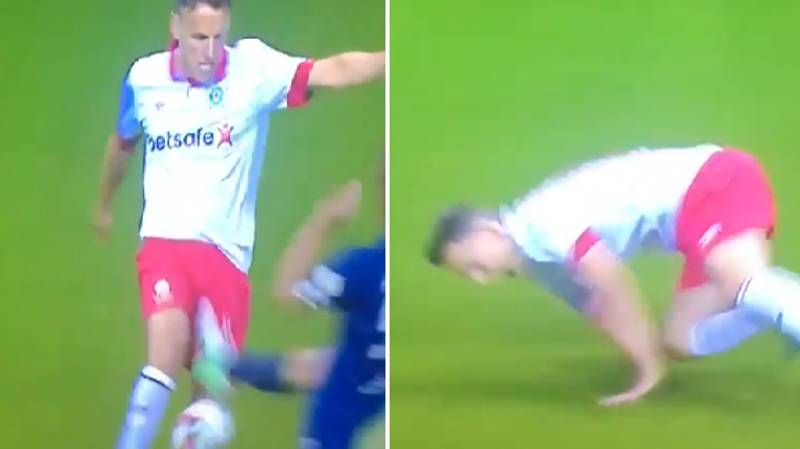 WATCH: Carles Puyol Absolutely Destroy Phil Neville With Brutal Tackle