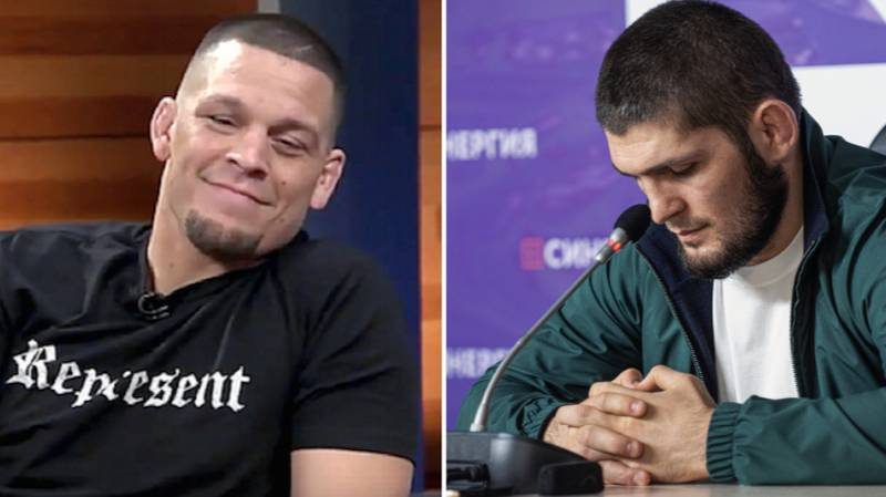 "Nate Diaz Calls Khabib Nurmagomedov A ""P***y"" After He Makes UFC Announcement"