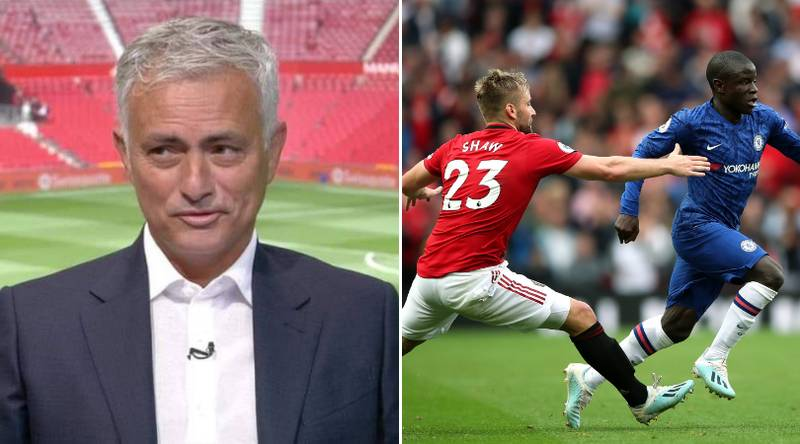 Jose Mourinho Aims Cheeky Dig At Luke Shaw While Paying Tribute To Harry Maguire