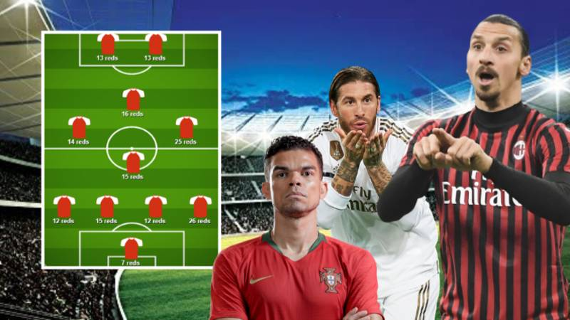 An XI Made Up Of Players With The Most Red Cards In History