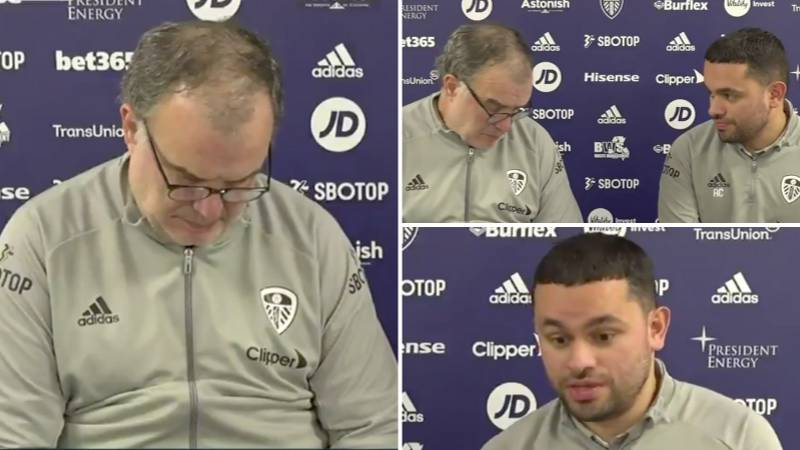 """Marcelo Bielsa Announces Starting XI In Press Conference After Reporter Asks: """"Will You Keep West Ham Guessing?"""""""