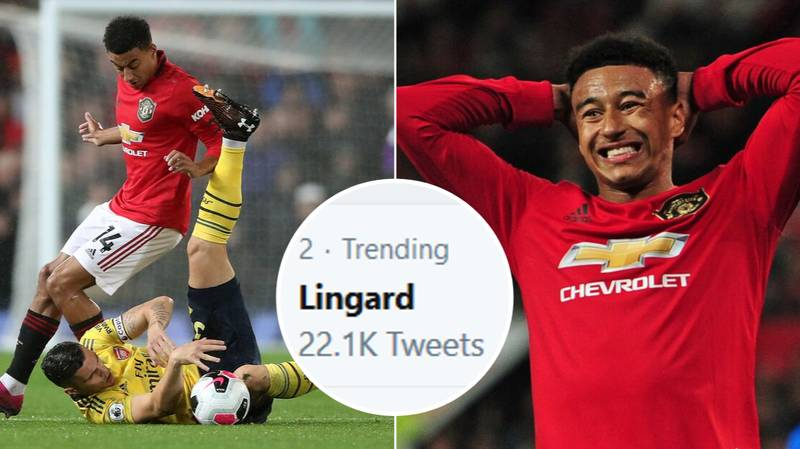 Jesse Lingard Trending On Twitter After Anonymous First Half Display Against Arsenal