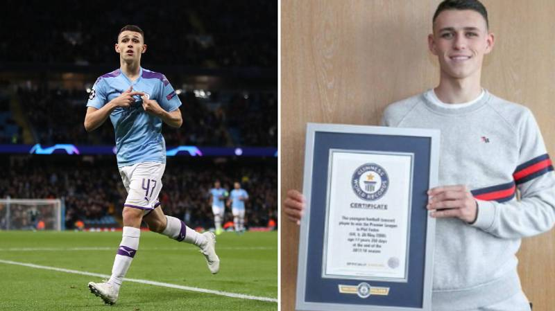 Phil Foden Has Been Included In The Guinness World Records 2020