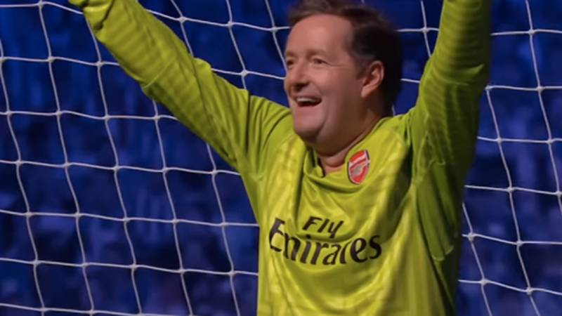 Piers Morgan Clearly Wasn't Enjoying Arsenal Versus Manchester City