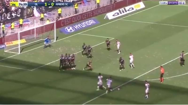 Watch: Memphis Depay Scores Stunning Free-Kick For Lyon