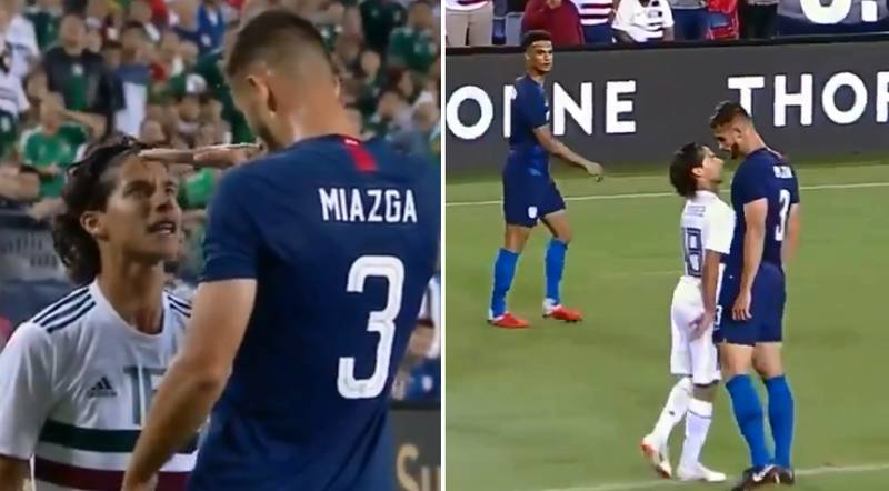 US Player Squares Up To Mexico Footballer And Jokes About His Height