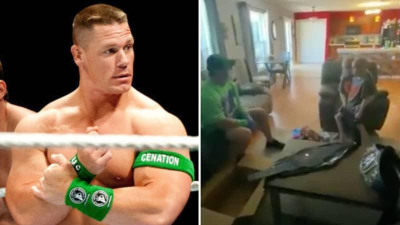 WWE Legend John Cena Surprises 7-Year-Old Fan Battling Life-Threatening Illness With Home Visit