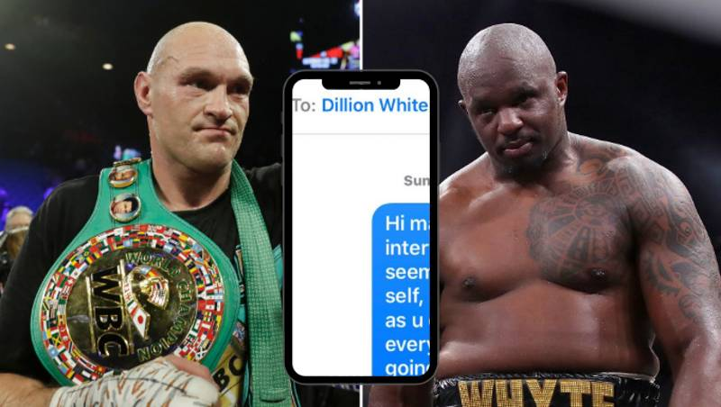 The 'Concerned' Text Tyson Fury Sent To Dillian Whyte Back In December