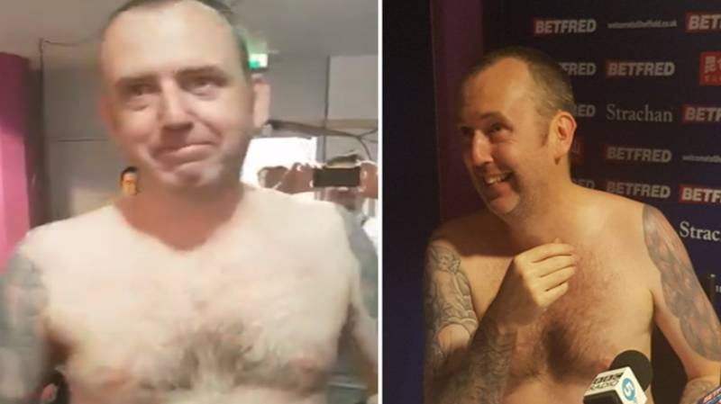 Mark Williams Does His Post World Championship Press Conference Naked