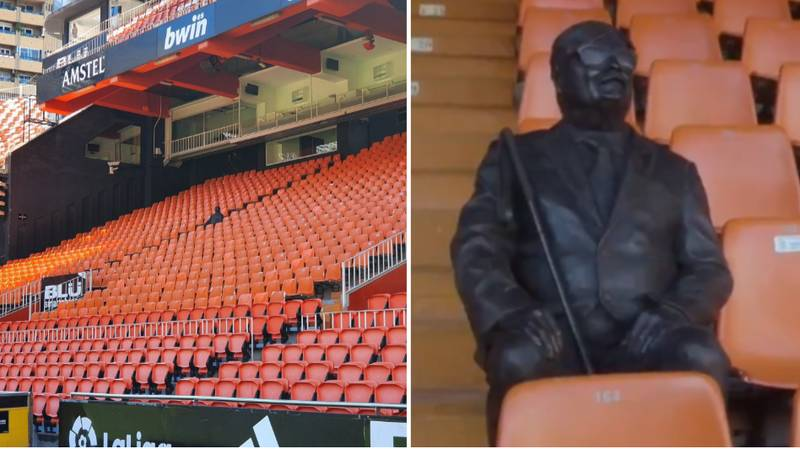 Valencia Put A Statue Of Late Season Ticket Holder In His Seat At The Mestalla
