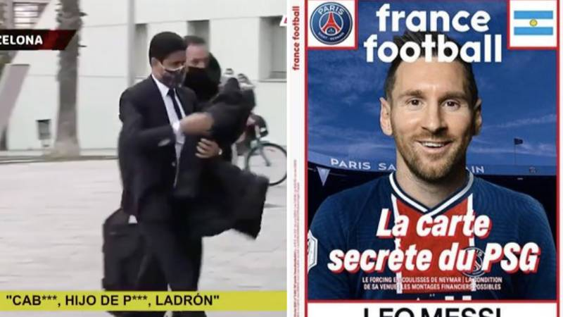 Barcelona Fans Shouted 'Let Go Of Messi And 'Son Of A B***h,Thief' At Paris Saint-Germain President Nasser Al-Khelaifi