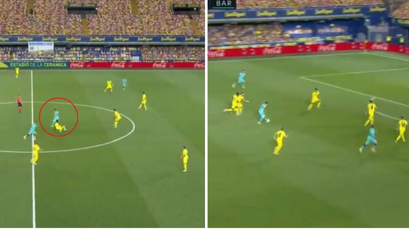 Lionel Messi Provided An Absolutely Unreal Assist For Luis Suarez During Barcelona's Victory Over Villarreal