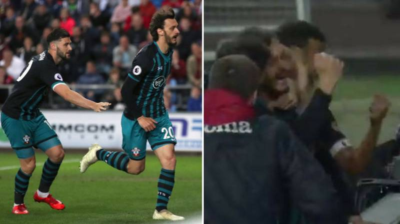 Swansea Boy Ball Appears To Scrap With Celebrating Southampton Players