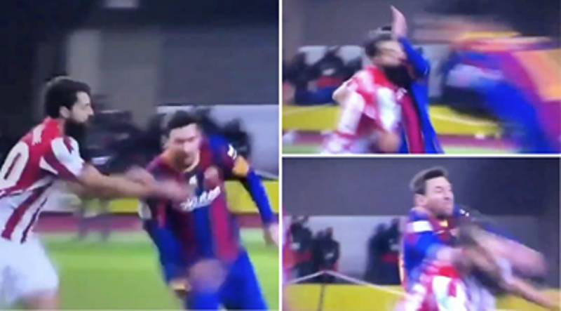 Slow Motion Footage Of Lionel Messi's Red Card 'Punch' Vs Athletic Bilbao Has Emerged