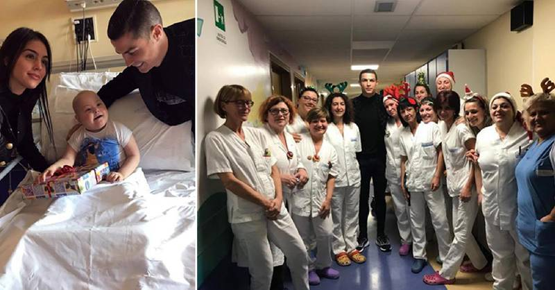 Cristiano Ronaldo, Georgina Rodríguez Visited Sick Children In Hospital On Christmas Eve