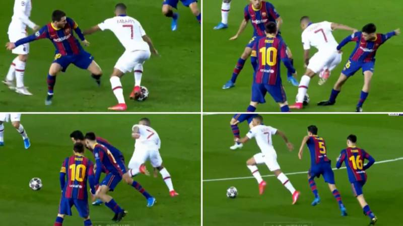 The Moment Kylian Mbappe Ruined Lionel Messi And Two Other Barcelona Players In Three Seconds