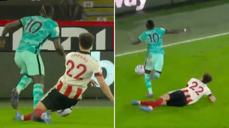 Sadio Mane Proved You Don't Win Penalties Without Going Down During Sheffield United Vs Liverpool