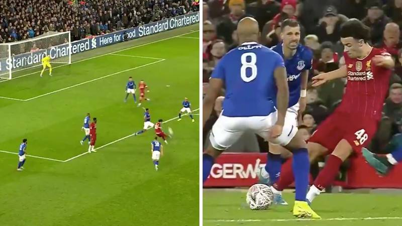 Liverpool-Born Curtis Jones Scores A Screamer To Knock Everton Out Of The FA Cup