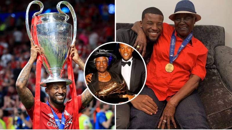 Gini Wijnaldum Celebrates Champions League Win By Taking Picture With His Grandmother Wearing His Medal