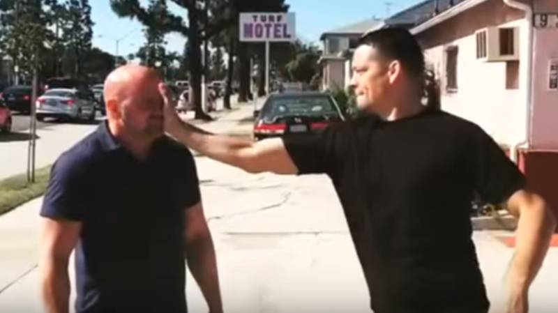 When Dana White Was On The Receiving End Of A 'Stockton Slap' From Nate Diaz