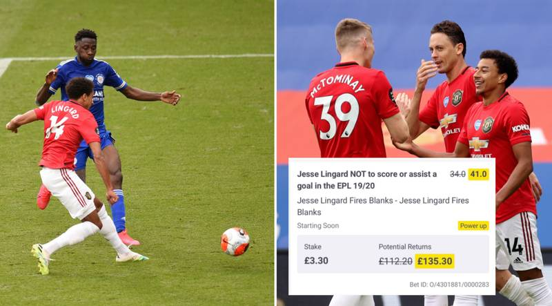 Fan's Jesse Lingard Bet On Him Failing To Score Or Assist In The Premier League Falls Through