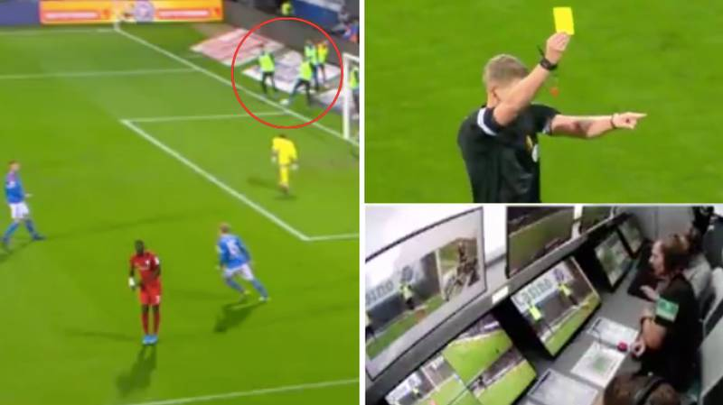 German Player Wasn't Even On The Pitch When He Conceded Penalty In Bundesliga 2 Game