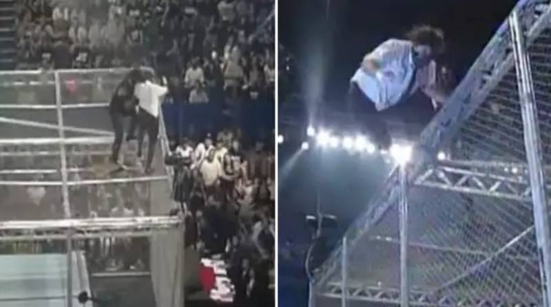 22 Years Ago, The Undertaker Threw Mankind Off Hell In A Cell In WWE's Most Iconic Moment