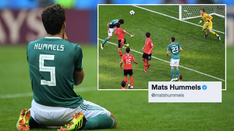 Mats Hummels Posts One Word Tweet After Germany's World Cup Exit