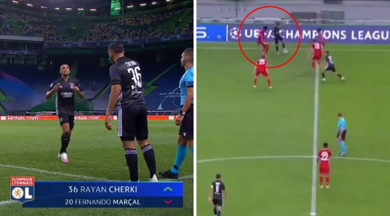 17-Year-Old Rayan Cherki Announces Himself To The World By Turning Alphonso Davies With Ease