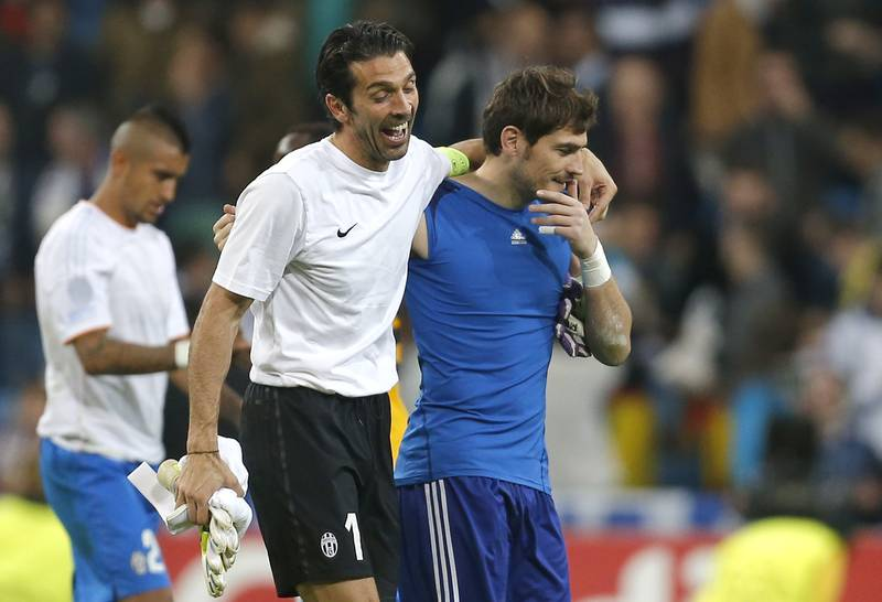 Gianluigi Buffon And Iker Casillas Share Bromantic Moment On Twitter