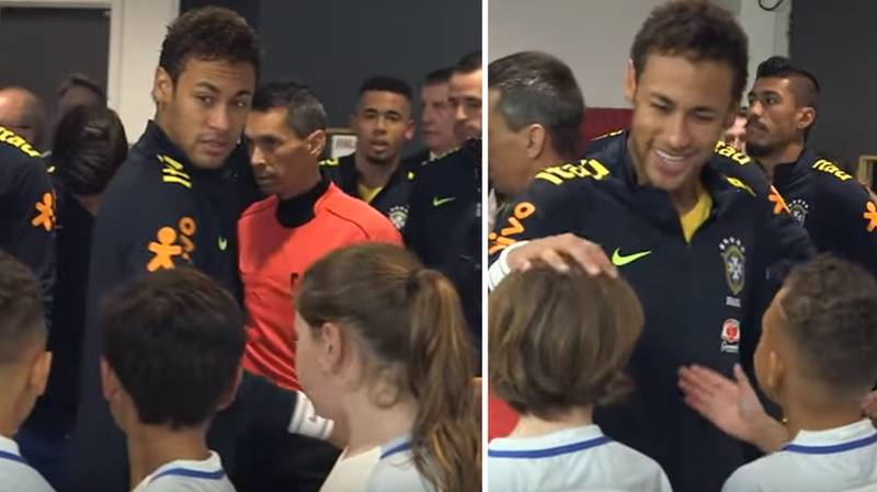 Neymar's Brilliant Response To Young Mascot Who Asked Him Why He Signed For PSG