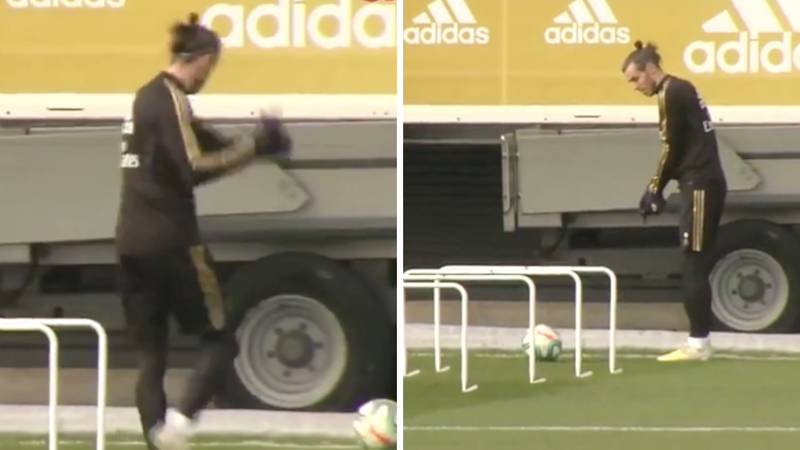 Gareth Bale Videoed Practicing His Golf Skills In Real Madrid Training