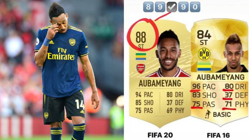 Pierre-Emerick Aubameyang Isn't Happy With His FIFA 20 Card